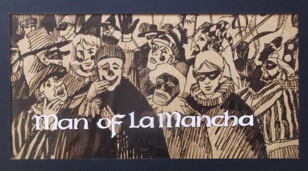 Man of La Mancha artwork by Don Record, 1972