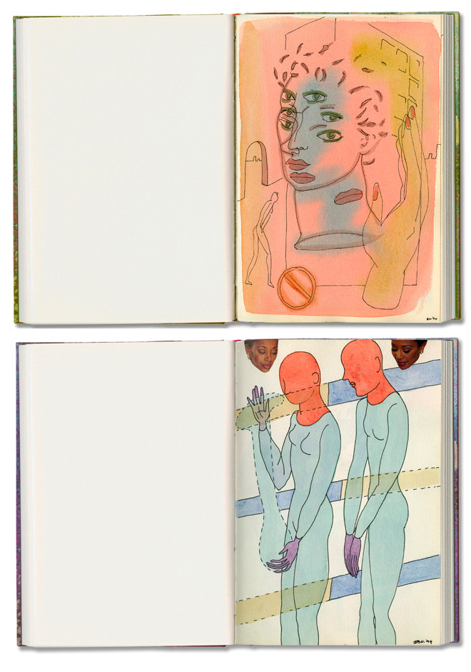 Nessim Sketchbook Spreads