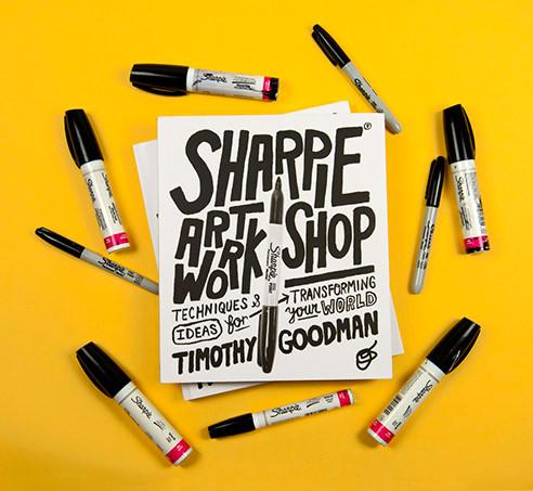 Timothy Goodman wrote a book at Sharpie art.