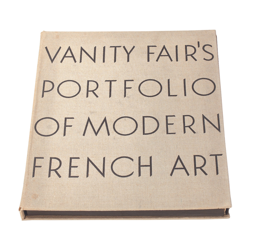 Binding of Vanity Fair's Portfolio of Modern French Art (1935). (Courtesy of Condé Nast.)