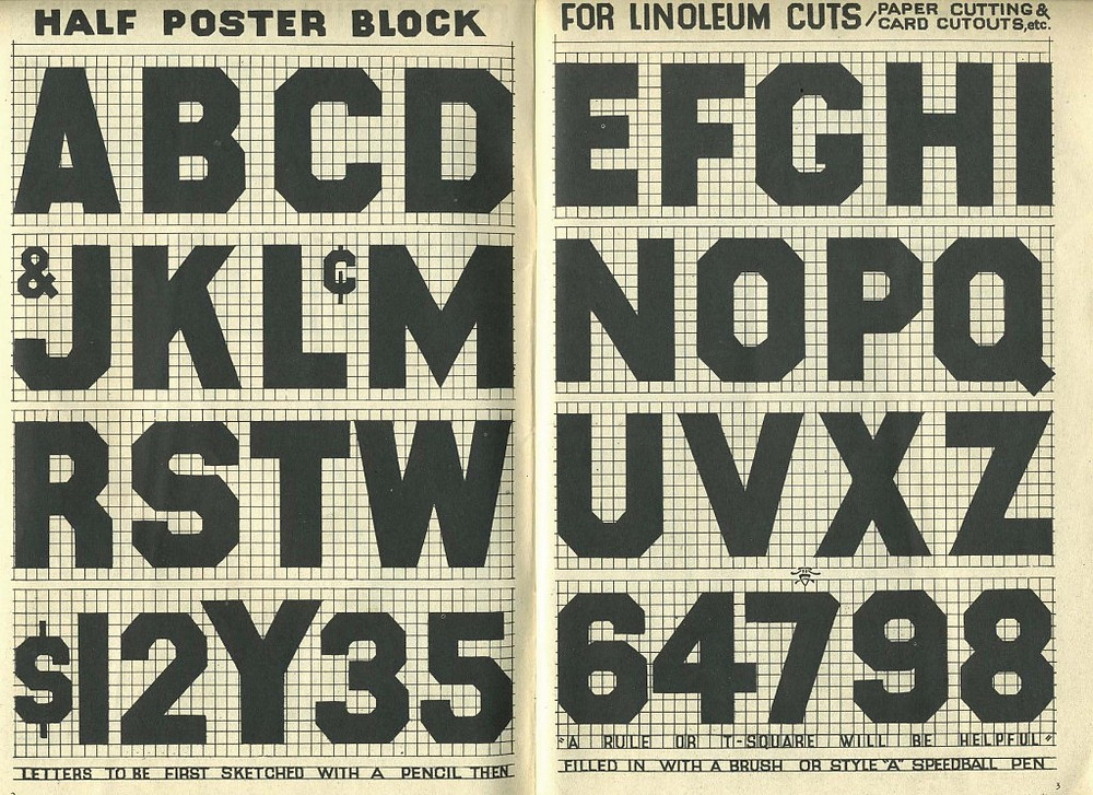 Poster Block font and instructions as to how to prepare and produce the typeface.