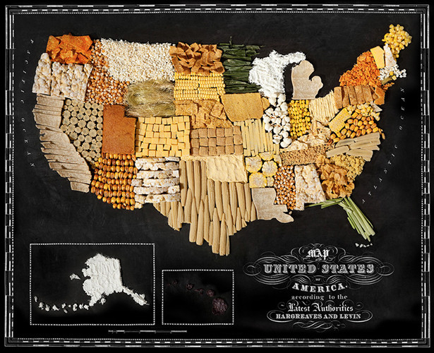 Food maps: Food stylist Caitlin Levin & photographer Henry Hargreaves collaborated to make these  inventive maps, built from the region's most famous foods.