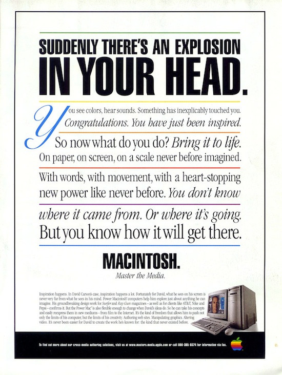1996 Power Macintosh Ad, featuring David Carson (2/2).