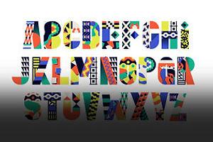 Bauhaus Letterforms + Kenyan Design = A Very Mod Mashup