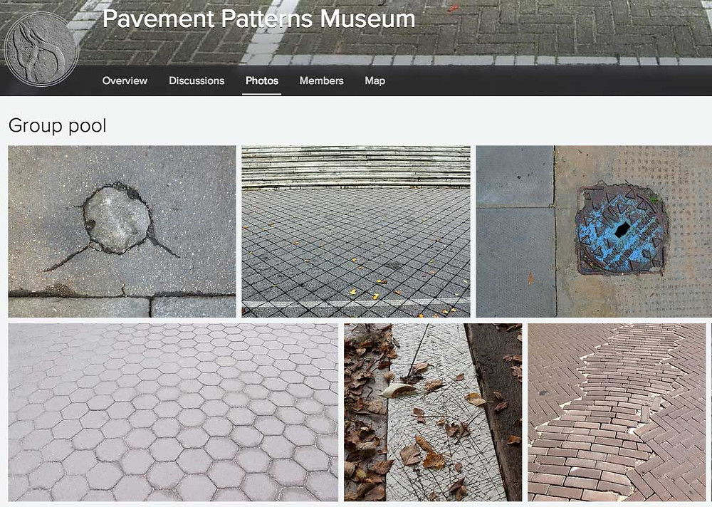 Beige Pavement Patterns Museum on Flickr: https://www.flickr.com/groups/pavementpatterns/