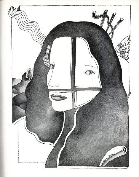 black and white Barbara Nessim