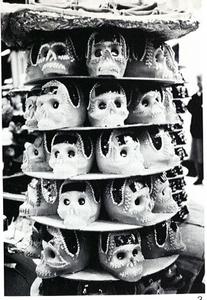 Fig. 3—Display of rock candy skulls