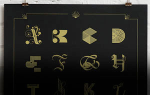 The Midas Touch: A Typographic Poster by Lesli Ink