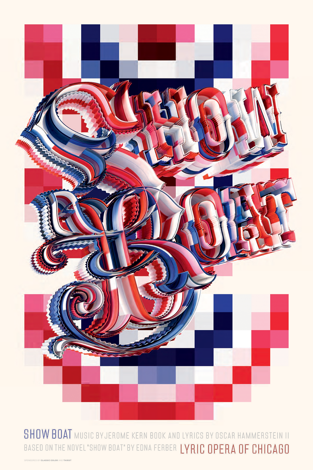 Lyric Opera Commemorative posters for the Lyric Opera productions of Showboat, 2011 and Tannhaüser, 1988.