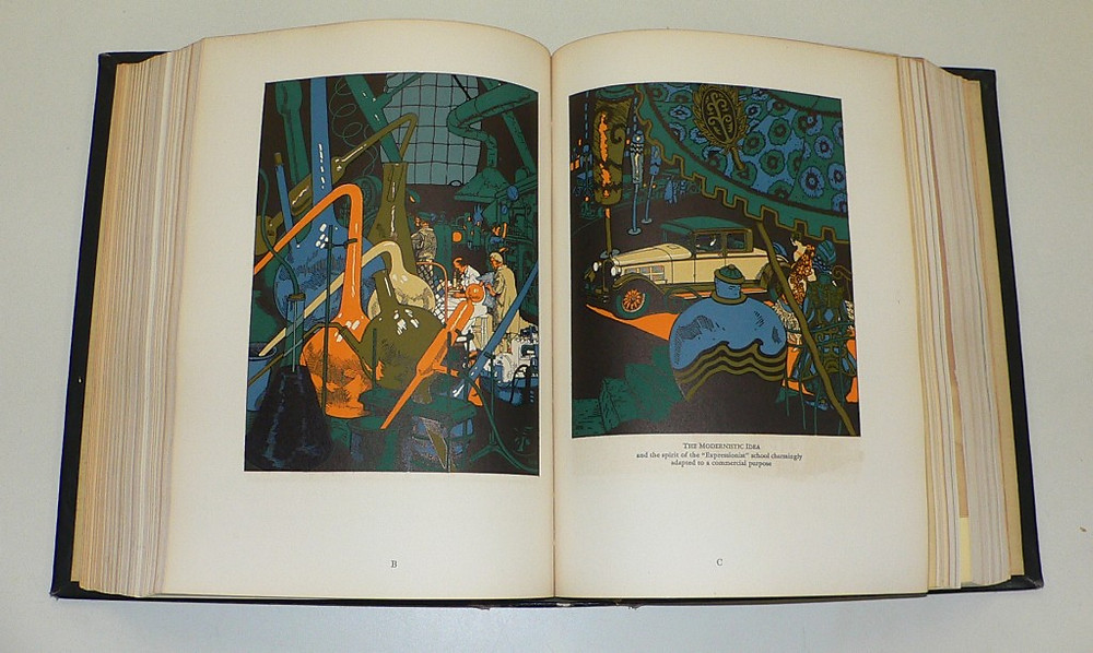 The illustration/design on the right is by Walter Rosenthal.