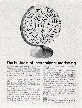 black designers graphic design history House ads for R. R. Bowker Co. Art director/designer: Dorothy Akubuiro