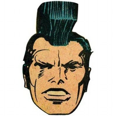 Paul Sahre's Twitter profile picture, Kirby's character OMAC (One Man Army Corp)