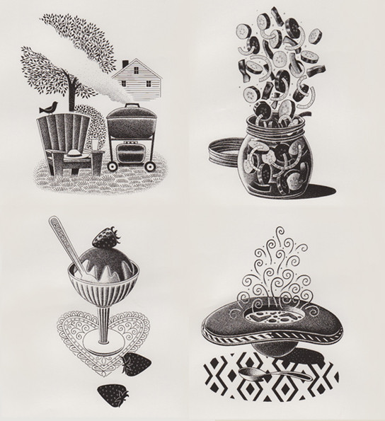 Four Illustrations by Paul Hoffman