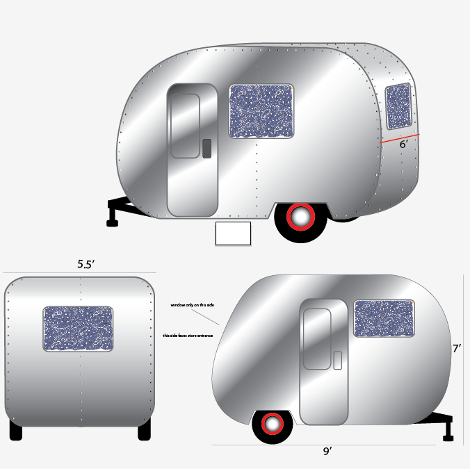 "drawings for The Caravan"" for Levis by Antlre Inc."