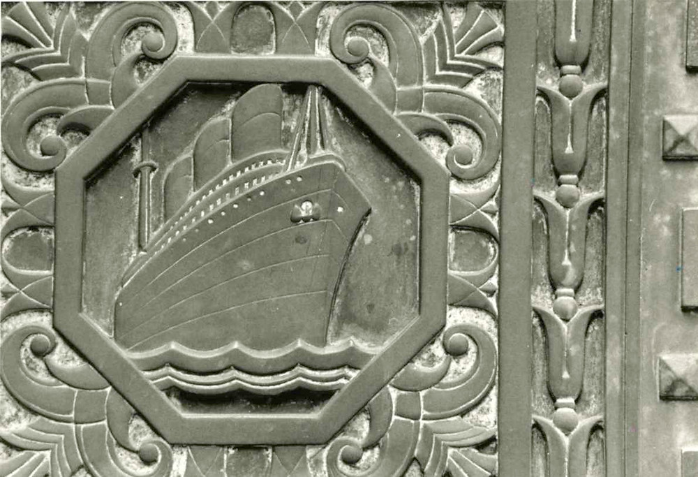 Detail from City Bank Farmers Trust, 65 Beaver St.