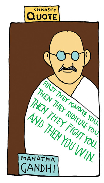 Chwast's Quote: Words of Wisdom from Seymour Chwast (and Mahatma Gandhi)