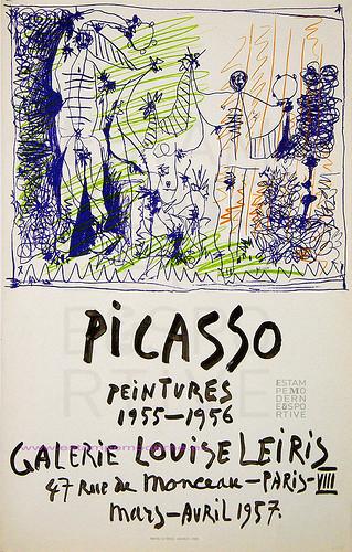 Exhibit poster in Paris, 1957