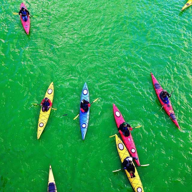 Image: Chicago River on St. Patrick's Day by Christopher Macsurak on Flickr, http://bit.ly/1xdjhfC