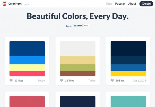 color hunt page
