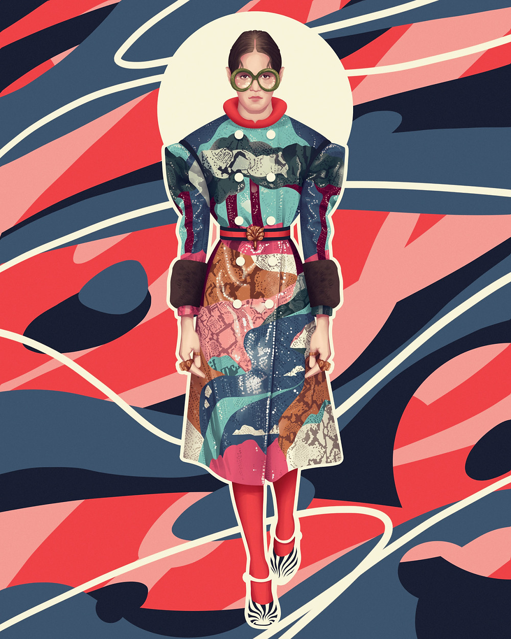 Illustrations based on Gucci's F/W16 Collection | personal illustrations by Jack Hughes
