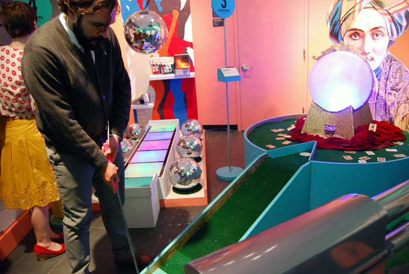 the phobia-centric mini-golf course and exhibit curated by Kevin O'Callaghan for the School of Visual Arts MFA Design program