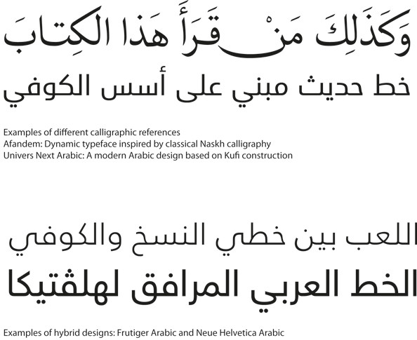 (Examples of different calligraphic references) Afandem: Dynamic typeface inspired by classical Naskh calligraphy