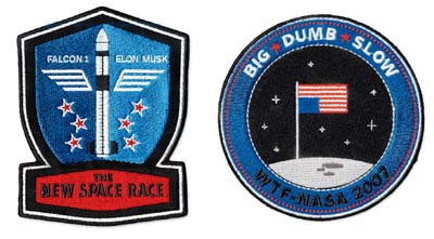 Mock flight patches produced for an article critical of NASA;Design Firm:The Heads of State, Seattle/New York;Art Director:Maili Holiman;Designers:Jason Kernevich, Ryan Hayes;Client:Wired Magazine