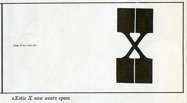 "exotic ""X"" now wears specs"