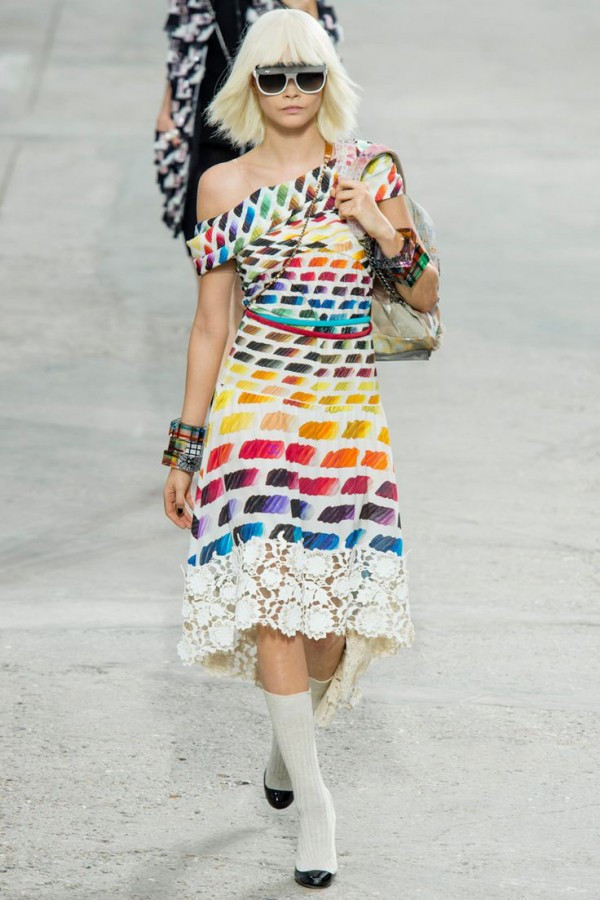 Credit: Chanel's color exercise pattern, via Pattern Observer's Pinterest board and Vogue.com.