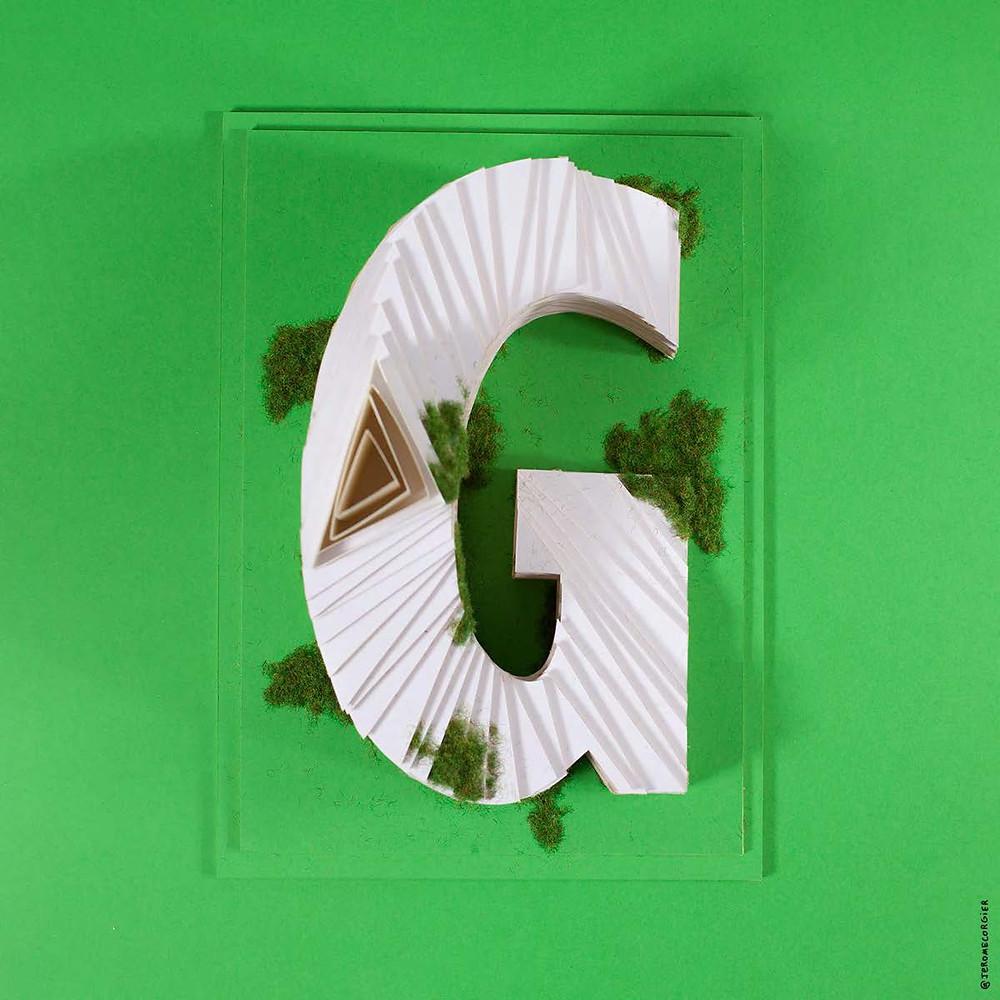 """Jerome Corgier """"ArchiLetters"""" - G"""