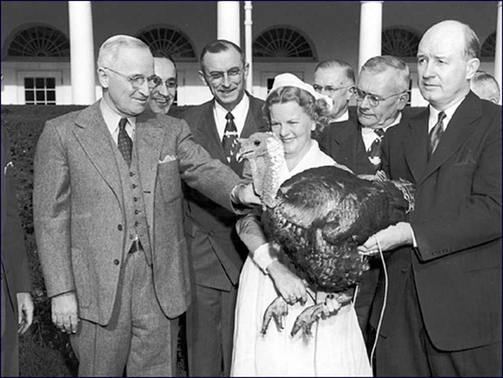 MR president with a Turkey