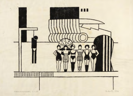 "Gerd Arntz. ""American,"" 1924."