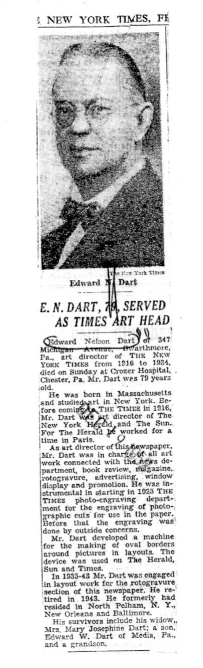Edward Nelson Dart at the new york times