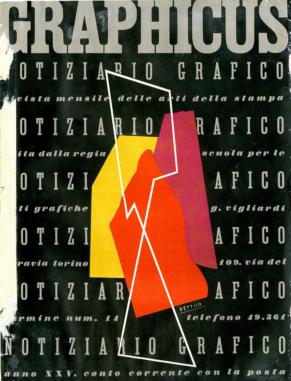 Ezio d'Errico drew the first abstract cover in Italy.