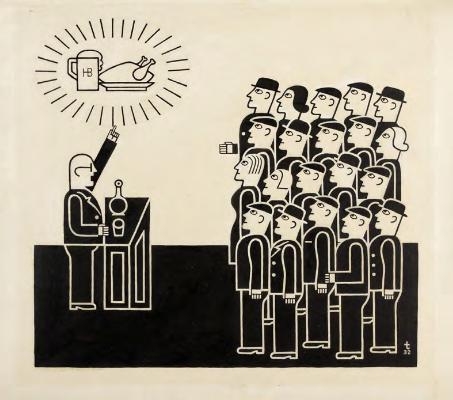"Augustin Tschinkel. ""Election Promises,"" 1932."
