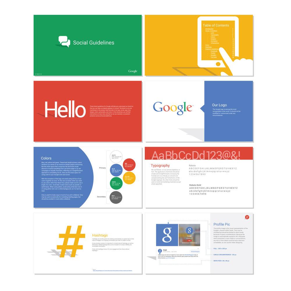 Google branding, Brand System