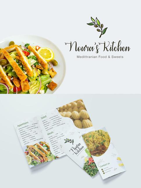 Logo & Menu - Noura's Kitchen