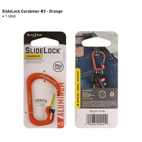 SlideLock Naranja - Mosquetón de Aluminio #3