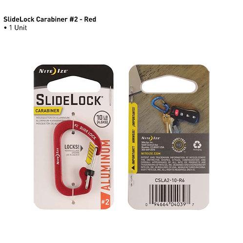 SlideLock Rojo - Mosquetón de Aluminio #2
