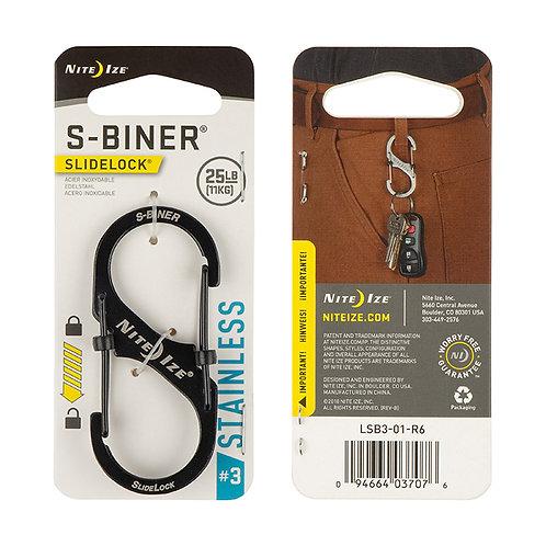 S-Biner SlideLock Negro - Acero #3