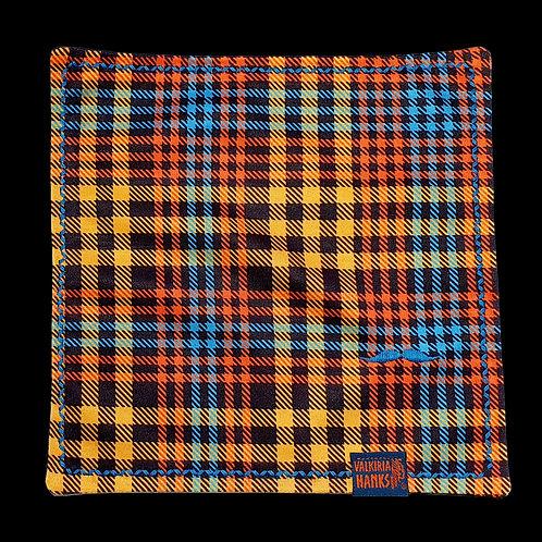 Valkiria Hanks - Orange-Blue Plaid
