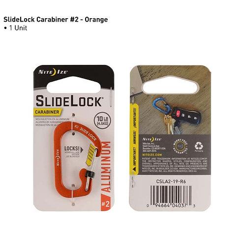 SlideLock Naranja - Mosquetón de Aluminio #2