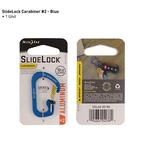 SlideLock Azul - Mosquetón de Aluminio #2