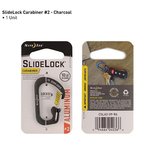 SlideLock Gris - Mosquetón de Aluminio #2