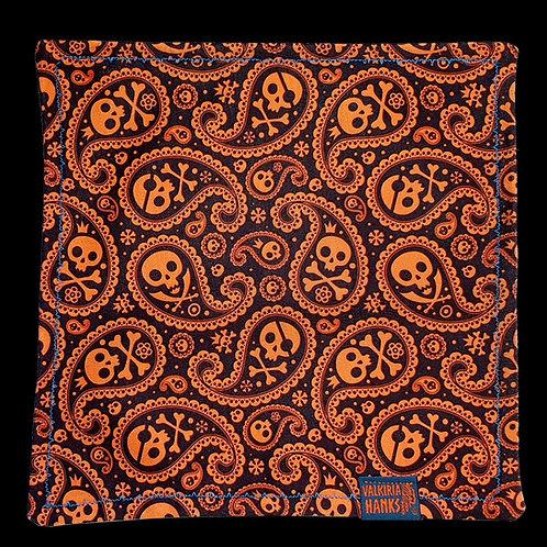 Valkiria Hanks - Orange Skull paisley