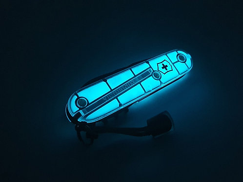Victorinox Custom Spartan Black Glow in the Dark Blue