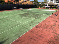 Tennis Court Before Cleaning