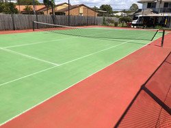 Tennis Court After Cleaning