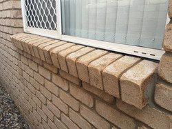Bricks after pressure cleaning