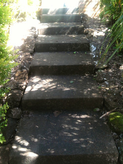 High Pressure Cleaning Gold Coast Steps Before Before 2
